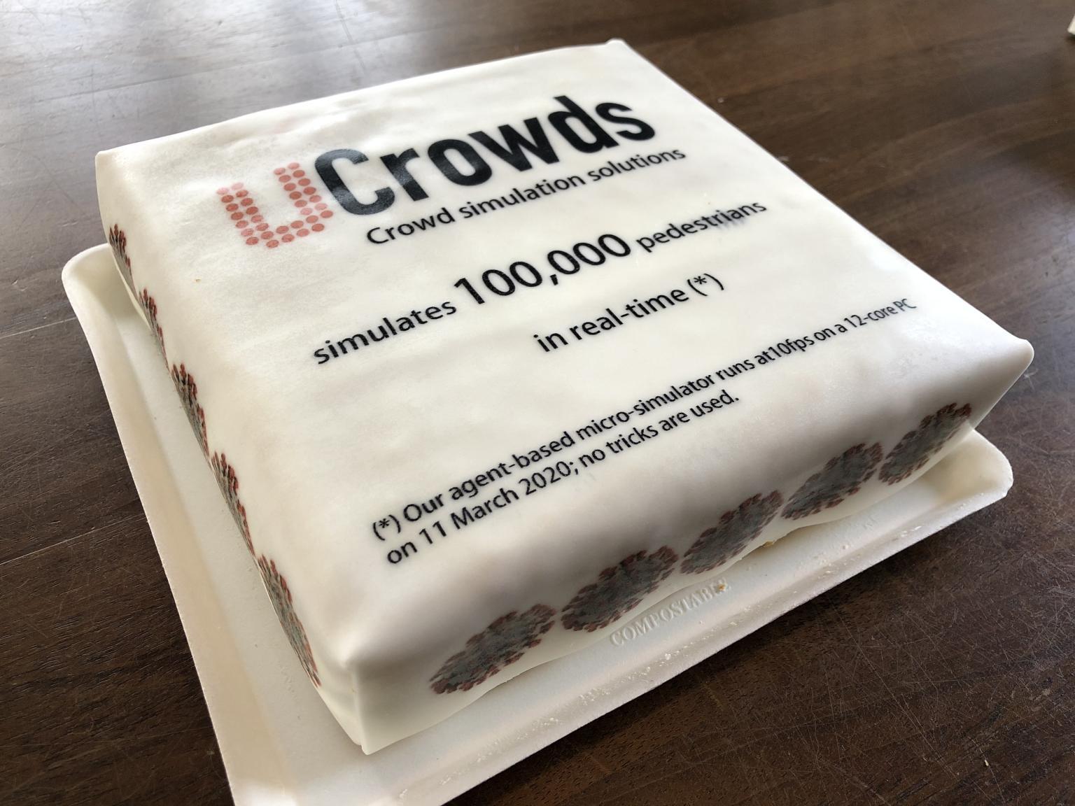 100.000 cake celebration image